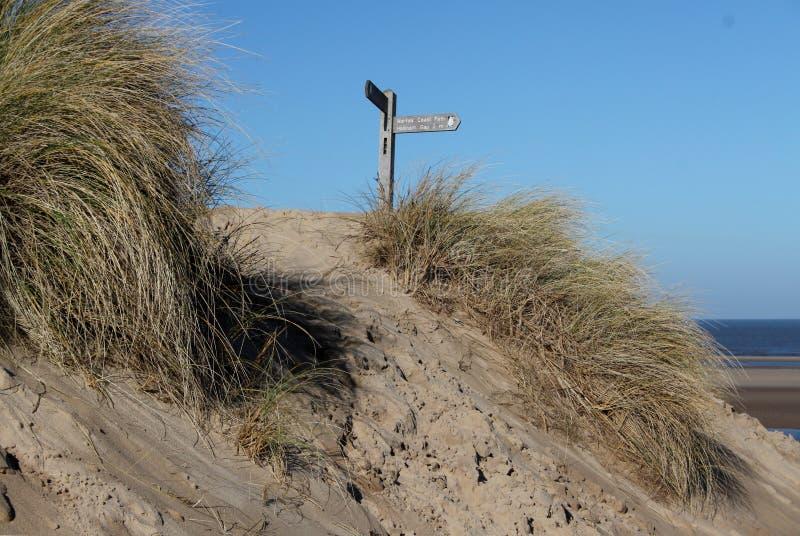Sendero costero del norte de Norfolk imagen de archivo