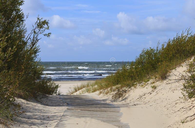 Sendero en la duna de arena al mar imagen de archivo