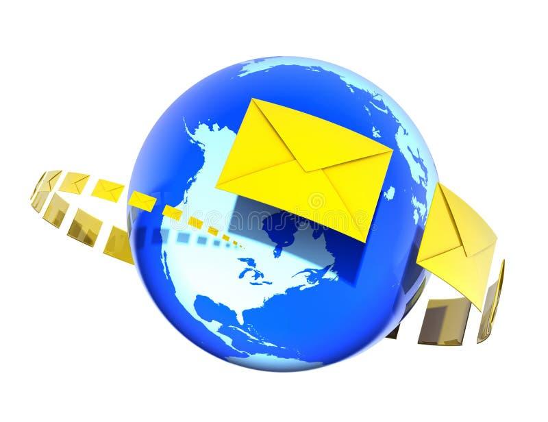 Download Sending Letters stock illustration. Illustration of globalization - 6735363