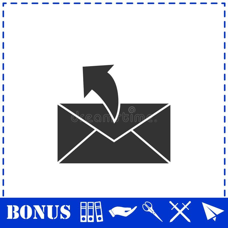 Sending mail icon flat. Simple vector symbol and bonus icon royalty free illustration