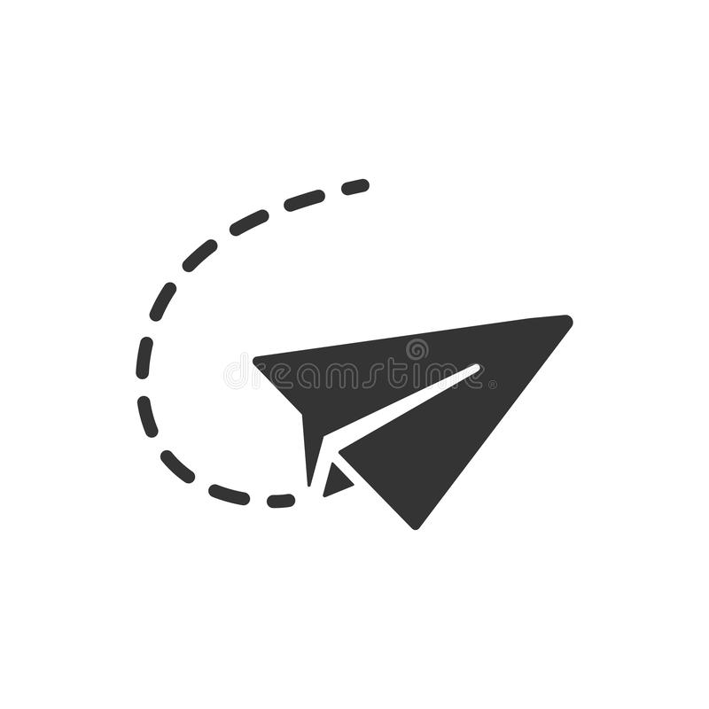 Sending Mail Icon. Simple Illustration Of A Sending Mail Icon royalty free illustration