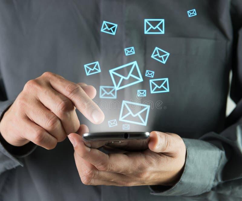 Sending sms royalty free stock photo