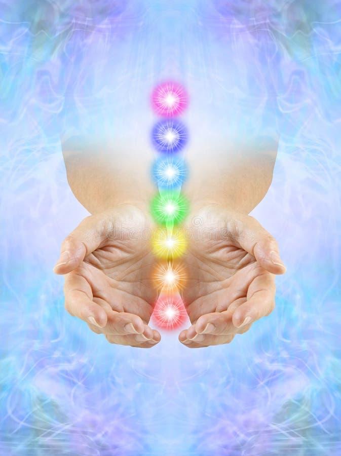 Free Sending You Beautiful Seven Chakra Healing Energy Royalty Free Stock Photography - 206925587