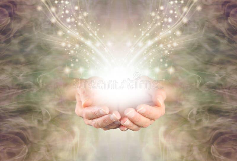 Sending You High Resonance Healing Energy vector illustration