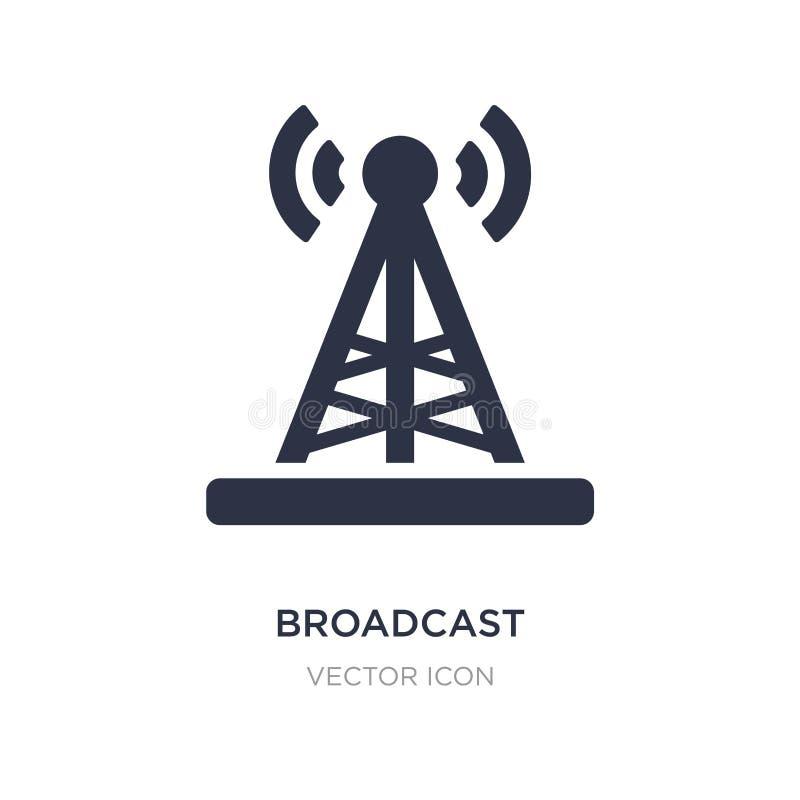 Sendung Fernsehturm Ikone auf weißem Hintergrund Einfache Elementillustration vom Technologiekonzept vektor abbildung