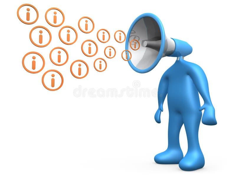 Sendungs-Informationen lizenzfreie abbildung