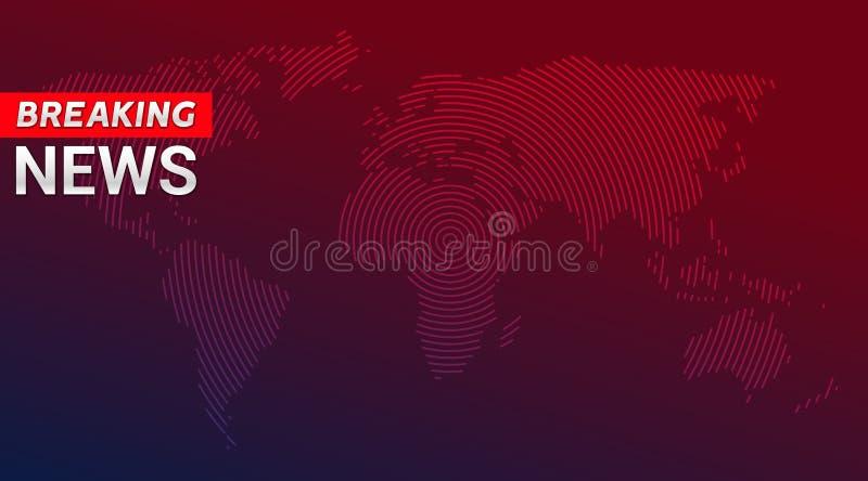 Sendungs-Konzeptdesignschablone der letzten Nachrichten für Nachrichtensender oder Internet-Fernsehhintergrund Hintergrund der le lizenzfreie abbildung