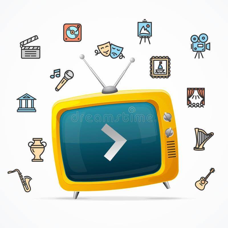 Sendungskonzept Vektor lizenzfreie abbildung