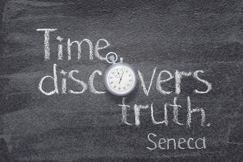 Seneca da verdade do tempo imagens de stock royalty free