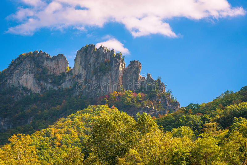 Seneca Rocks imagen de archivo libre de regalías