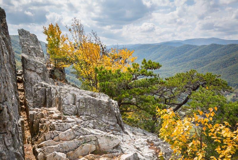 Seneca Rocks em West Virginia imagem de stock