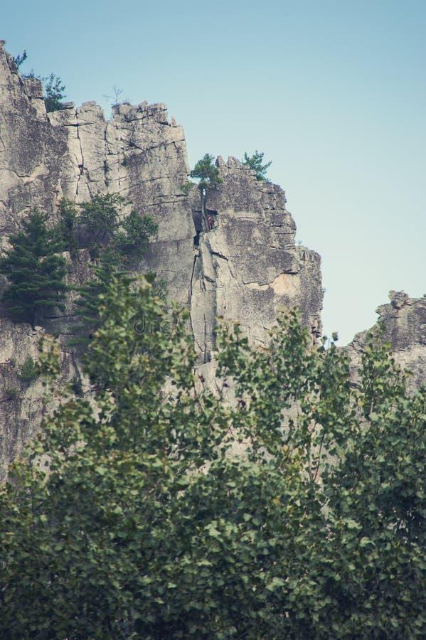 Seneca Rocks em West Virginia imagens de stock royalty free