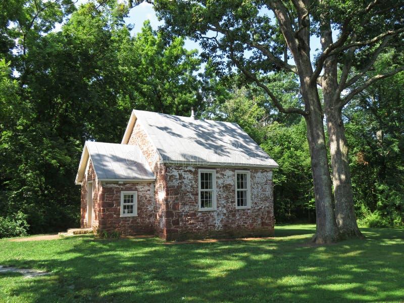 Seneca Schoolhouse in Landelijk Maryland stock afbeelding