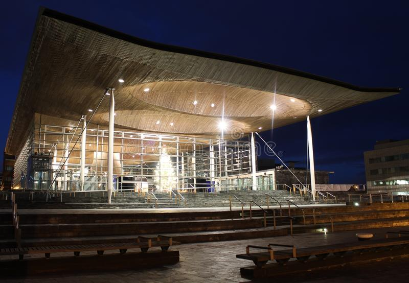 Senedd in Cardiff Bay, Wales stock photography