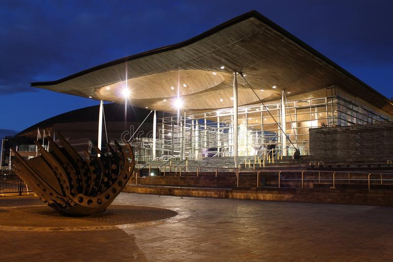 Senedd in Cardiff Bay, Wales royalty free stock photography