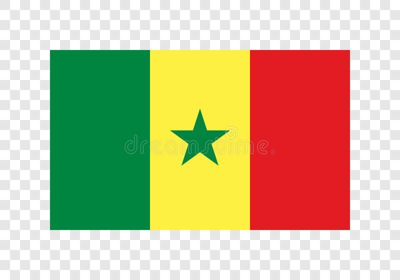 Senegal - bandeira nacional ilustração do vetor