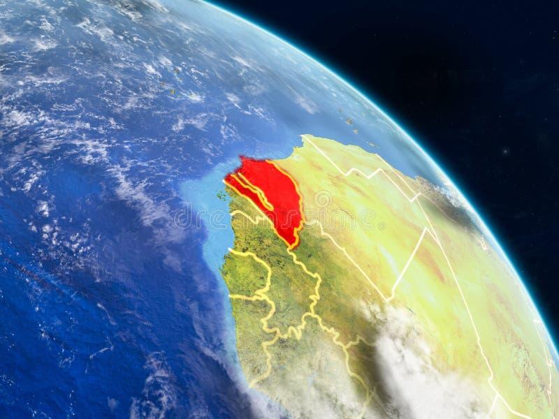 Senegal do espaço ilustração do vetor