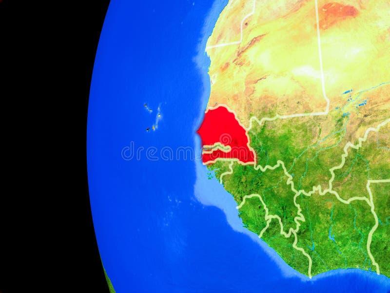 Senegal do espaço ilustração royalty free