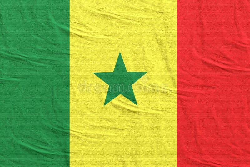 Senegal fahnenschwenkend lizenzfreie stockfotografie