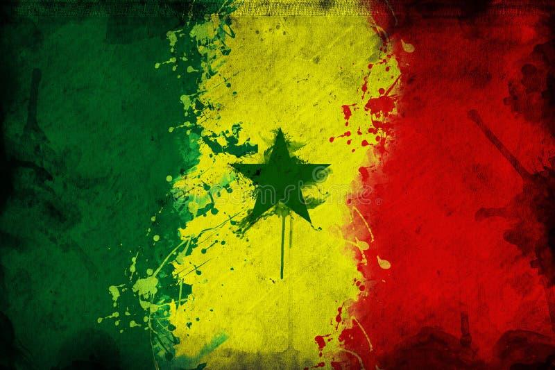 Senegal flaga ilustracja wektor