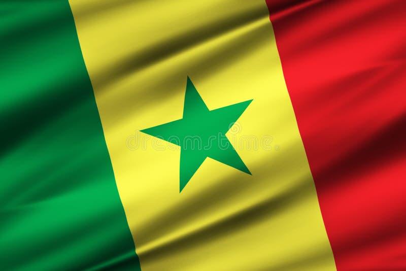 Senegal flaga ilustracja royalty ilustracja