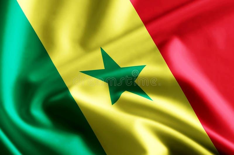 Senegal flaga ilustracja ilustracja wektor