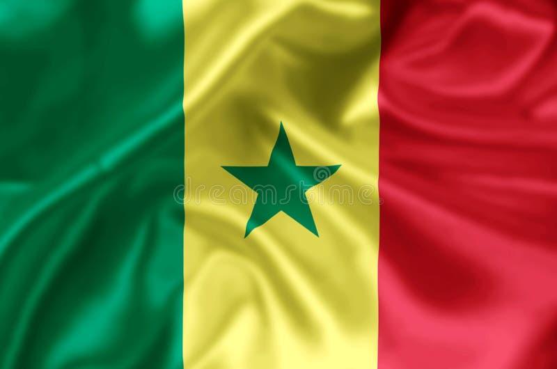 Senegal flaga ilustracja ilustracji