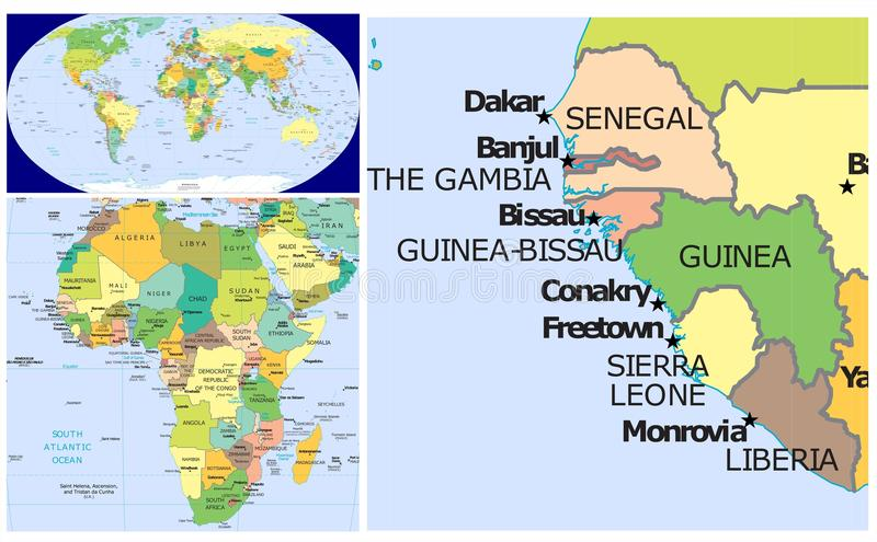Where is senegal on the world map on