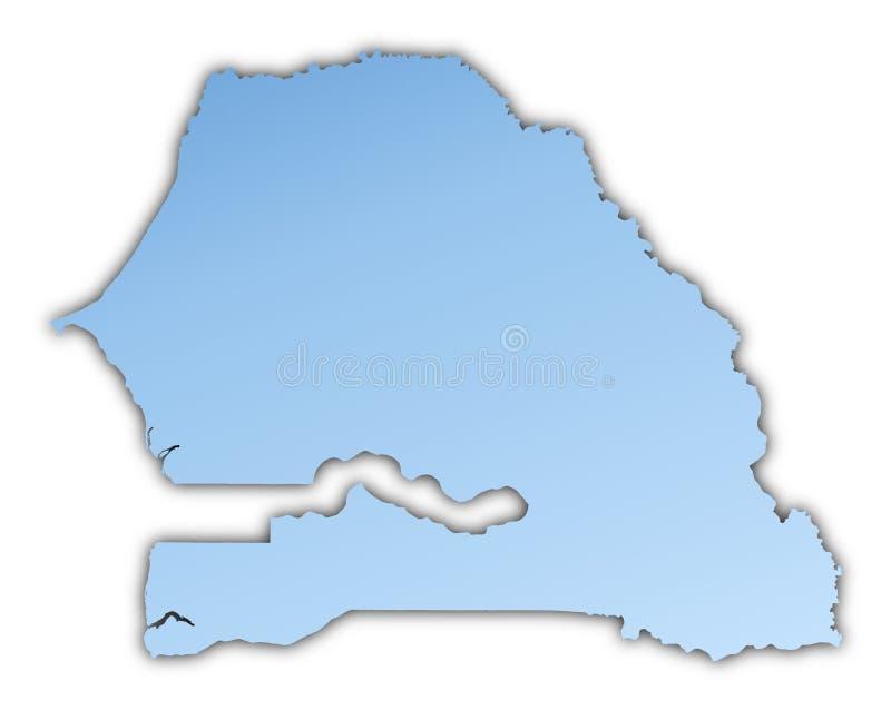 Download Senegal map stock illustration. Image of background, illustration - 7154043