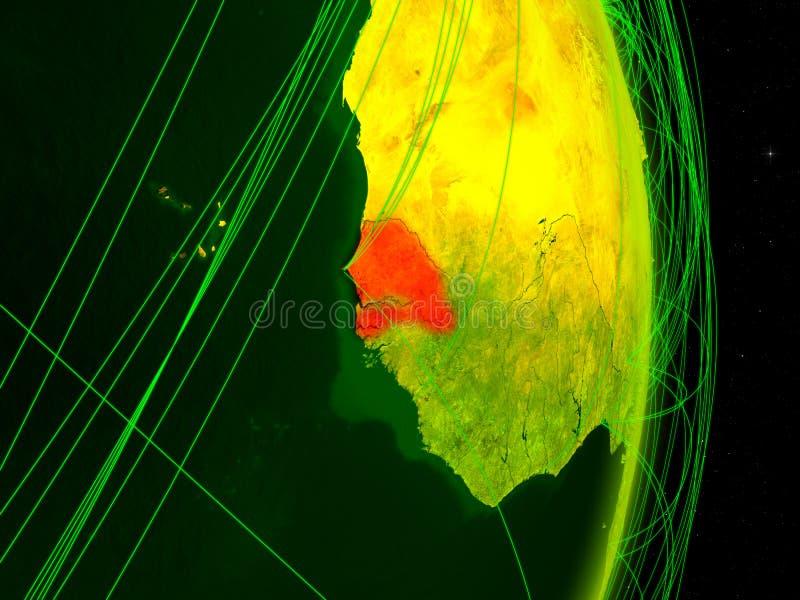 Senegal na terra digital ilustração royalty free