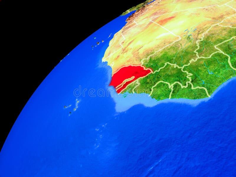 Senegal na terra do espaço ilustração do vetor