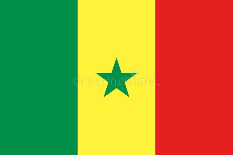 Senegal nationsflagga och flagga stock illustrationer
