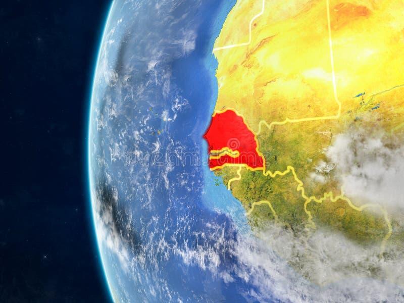Senegal no globo do espaço ilustração royalty free