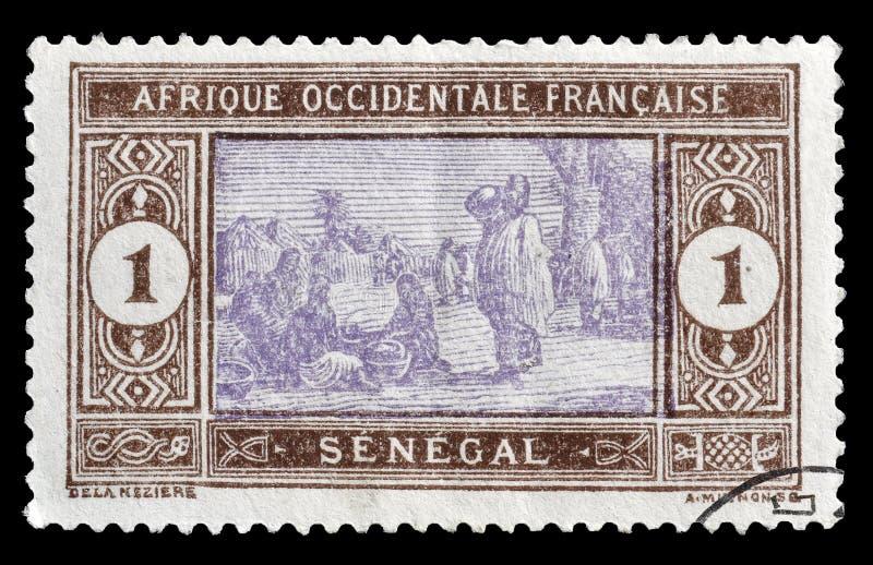 Senegal op postzegels royalty-vrije stock fotografie