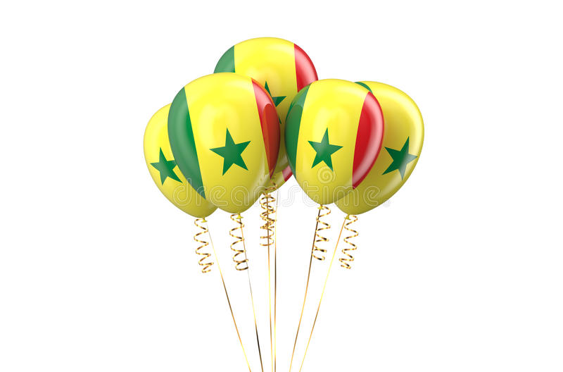 Senegal patriotic balloons holyday concept. Senegal patriotic balloons, holyday concept isolated on white background royalty free illustration