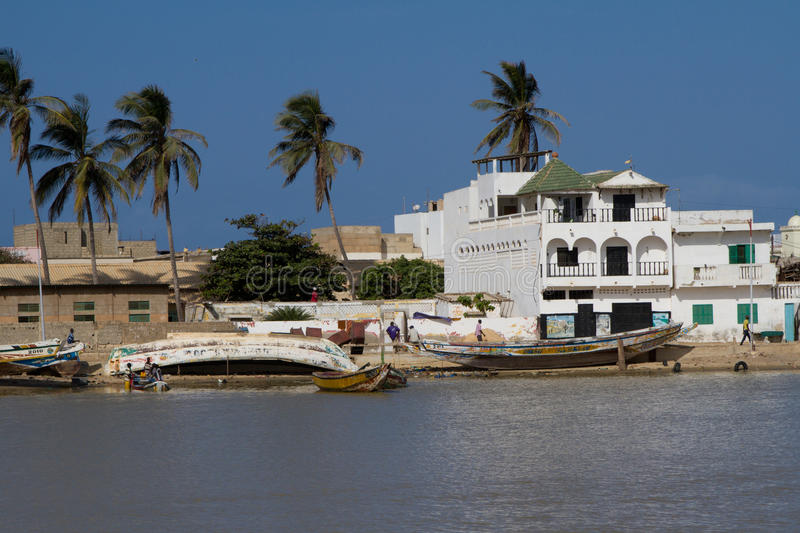 Senegal River in Saint Louis, Africa stock photography