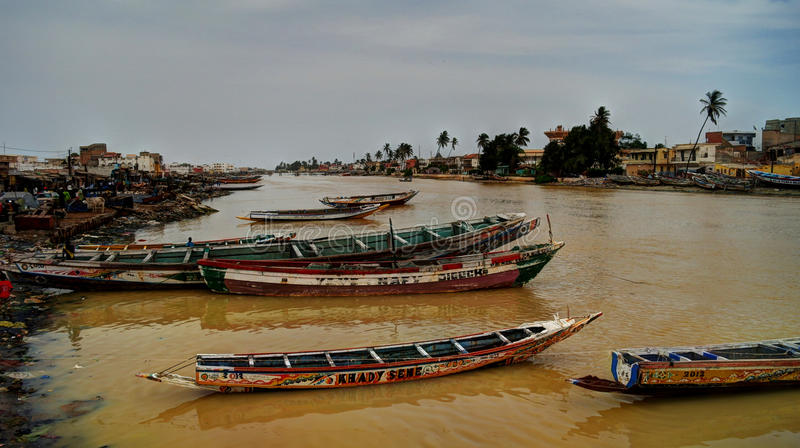 Senegal river, Saint-Louis stock image
