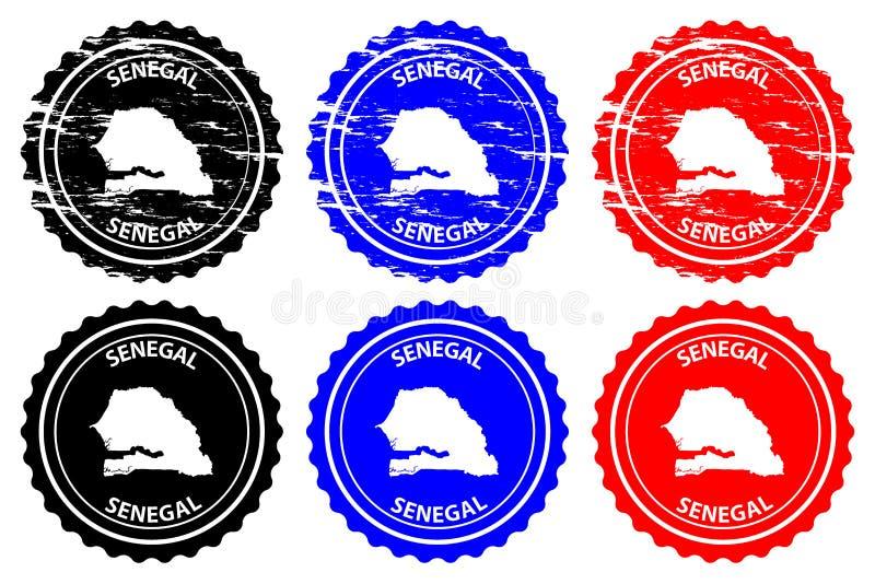 Senegal rubber stamp royalty free illustration