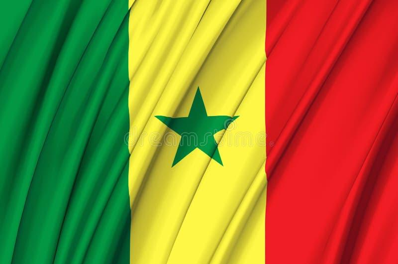 Senegal waving flag illustration. vector illustration