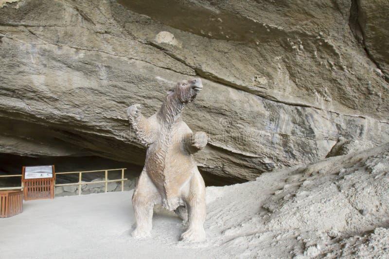 Sengångare för Cueva del Milodon Naturlig monumentjätte royaltyfri foto