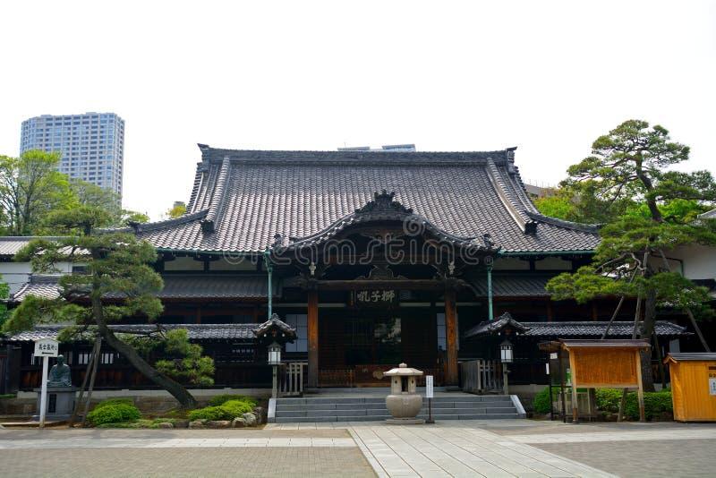 Sengaku tempel, Tokyo, Japan arkivfoton
