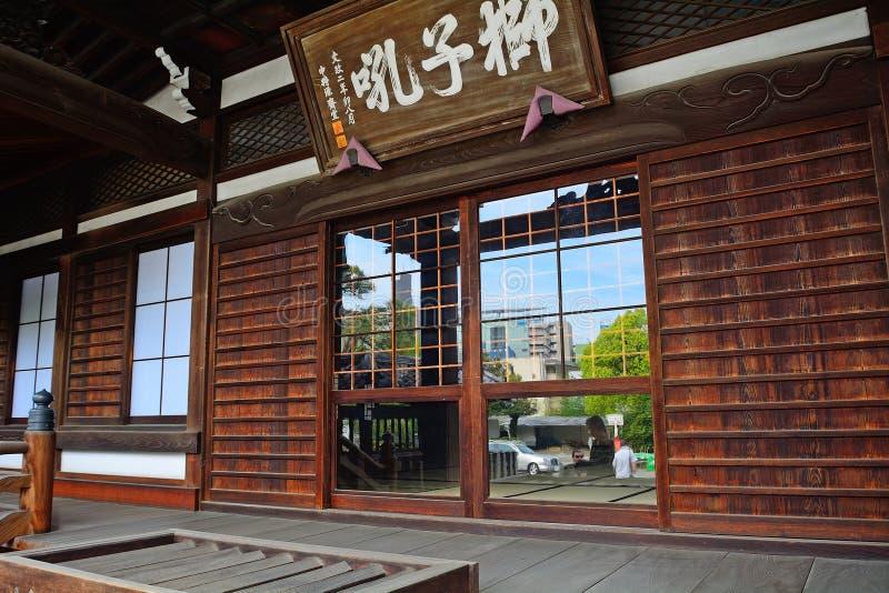 Sengaku tempel, Tokyo, Japan arkivbilder
