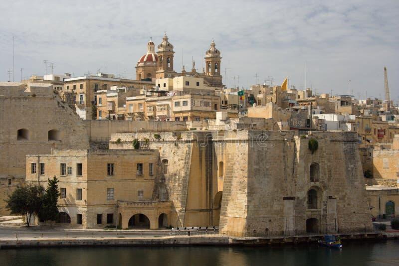 Senglea L ` Isla, Malta imágenes de archivo libres de regalías