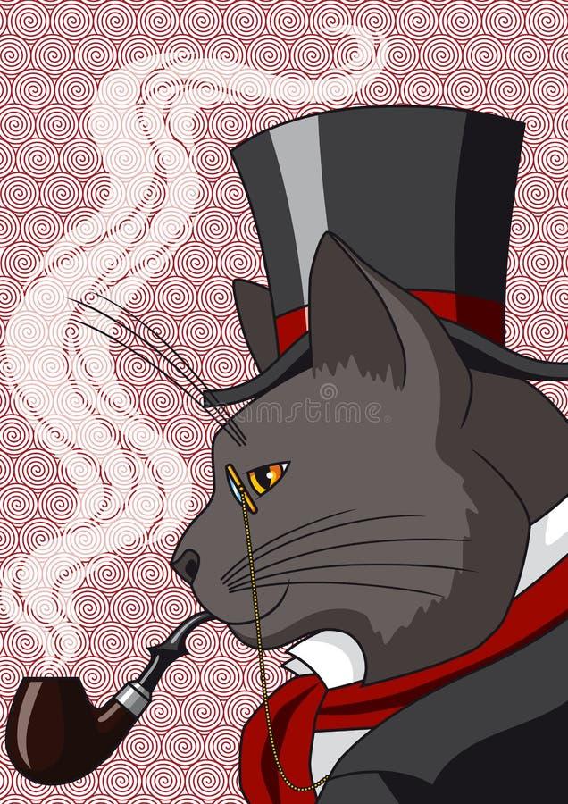 Senhor Cat ilustração do vetor