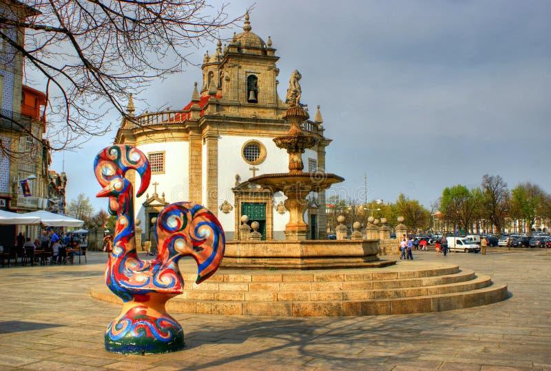 Senhor da Cruz kyrka i Barcelos royaltyfri bild