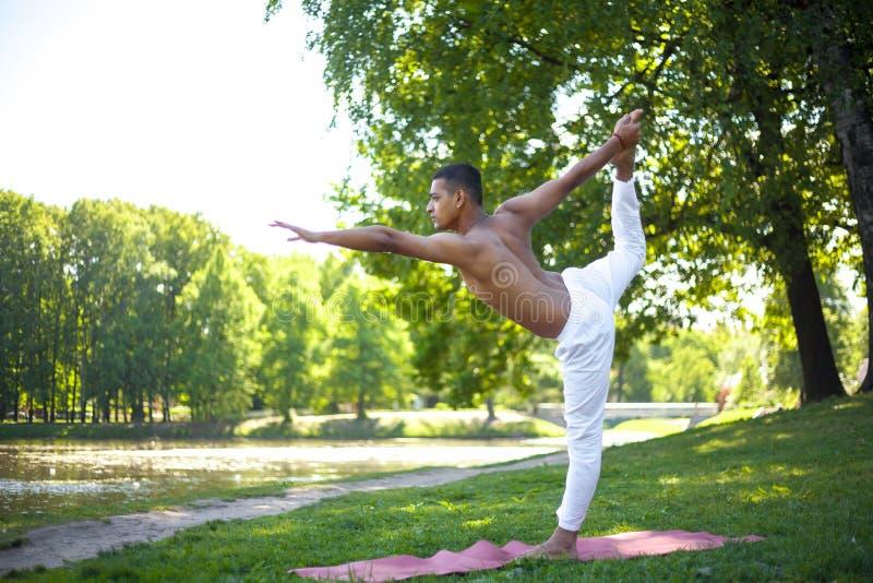 Senhor da pose da ioga da dança imagens de stock royalty free