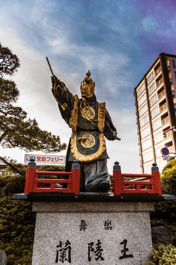 Senhor e guardião de Miyajima fotografia de stock royalty free