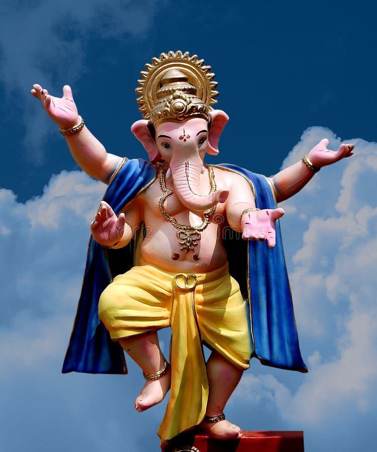 Senhor Ganesha - dança fotografia de stock