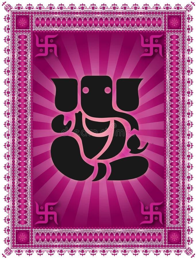 Senhor Shree Ganesh ilustração royalty free