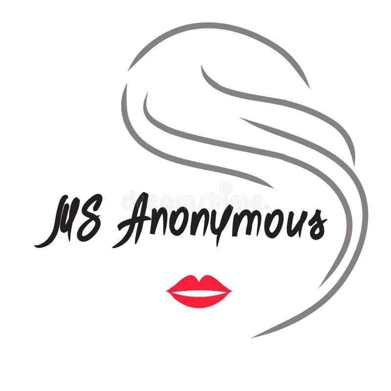 Senhora Anonymous - desenho de uma mulher desconhecida Cópia para o cartaz ilustração stock